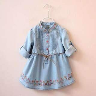 Denim Girl's Dress