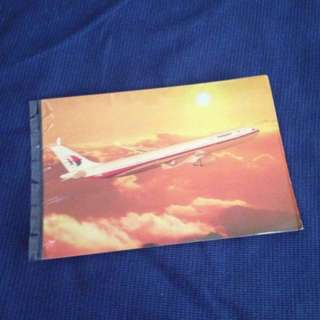 Vintage Malaysia Airlines A330 Postcard
