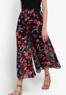 Zalora Floral Flare Palazzo Pants | Brand New with tag