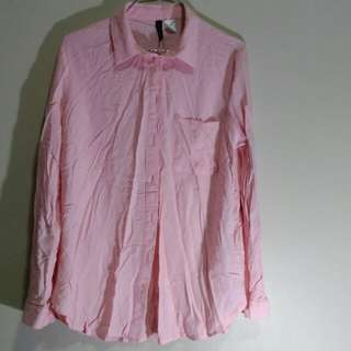 Pink H&M Office Polo