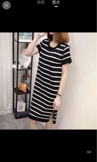 [P.O] Knit Stripe Dress