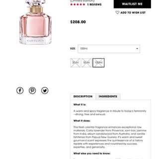 Authentic Brand New!Guerlain Mon Eau De Parfum 100ml