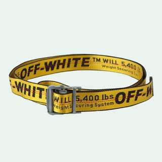 SSENSE Exclusive Yellow & Silver OFF-WHITE Industrial Belt