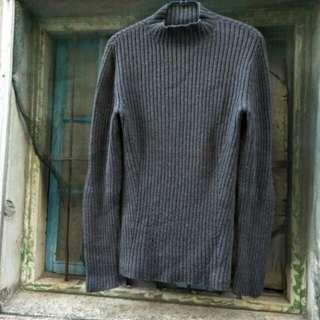 BANANA 美國灰色針織羊毛毛衣