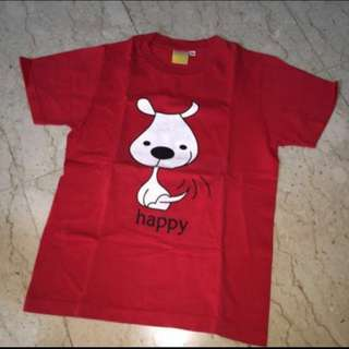 Red Happy Dog T-shirt