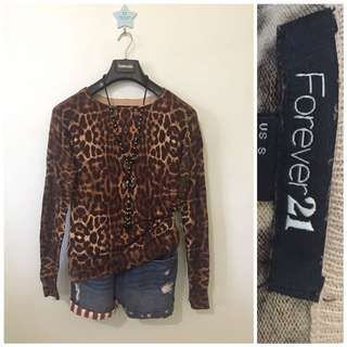 Forever21 Animal print so soft pullie