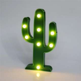 CACTUS / FLAMINGO / PINEAPPLE SHAPE DECORATION LED NIGHT LIGHT