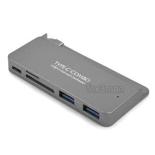 "Macbook 12"" 專用 TYPE C  COMBO HUB USB 3.0 + SD CARD READER 多功能集線器"