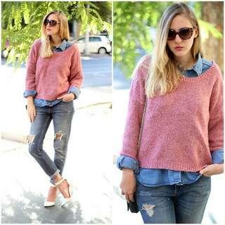 Pink Sweater Stradivarius
