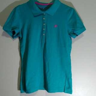 Teal & Pink Aeropostale Polo Shirt