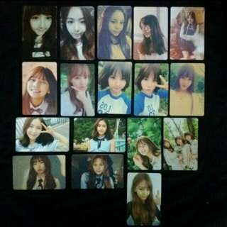 GFriend Photocards