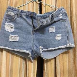 🚚 淺藍色 牛仔短褲
