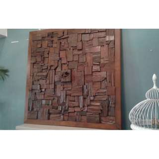"Wooden wall art deco (50"" x 50"")"