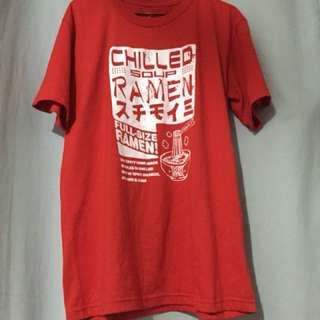 Oversized Culture Tee Red Shirt