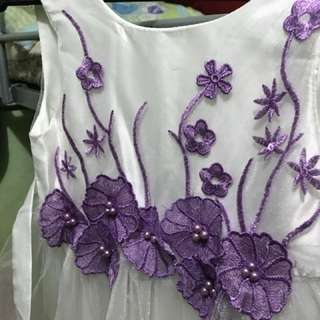 Tutu Purple Flower Dress