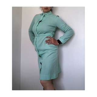 60s Button Down Pleated Dress