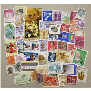 郵票 - 世界各地 World UK Spain New Zealand 50多枚不同 (11)