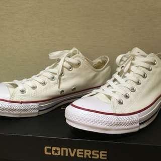 🚚 Converse白色帆布鞋基本款低筒