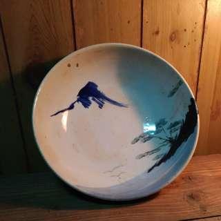 山水紋大碗公—古物舊貨、早期陶瓷碗盤收藏