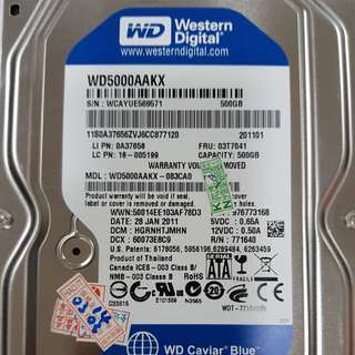 500GB HD WD5000AAKX