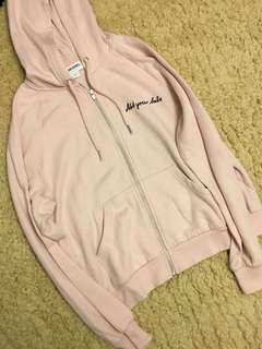 """100% New Monki Pink """"Not your babe"""" Hoodie"""