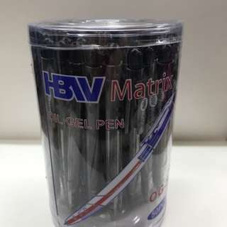 HBW Matrix Retractable Ballpen Black Blue Red