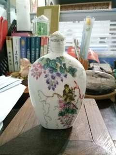 花鳥小瓶鼻煙壺