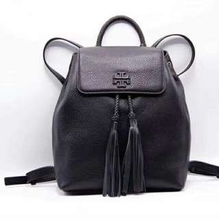 Tory Burch Taylor Leather Backpack Black Colour