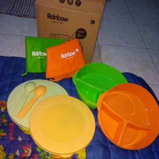 Rainbow Lunch Set / Tempat makan