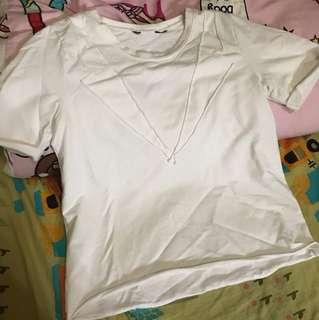 個性白色彈性上衣🦄️