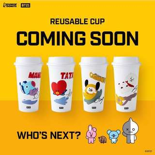 BT21 REUSABLE CUP