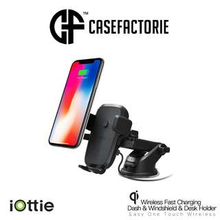 iOttie Easy One Touch Wireless Fast Charging Dash & Windshield & Desk Mount Holder for Mobile Devices