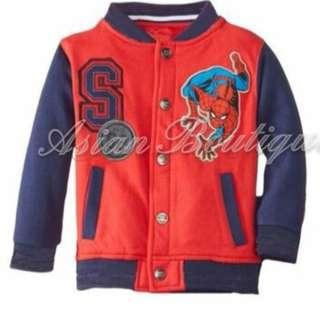 (KDRMY011)Spiderman Print Kids Jacket