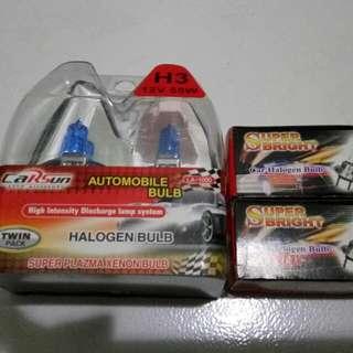 White Halogen Bulb (H7 & H3)