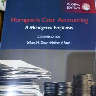 [PRE LOVED] Cost accounting : A managerial emphasis