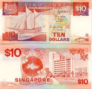 Old $10 Singapore note