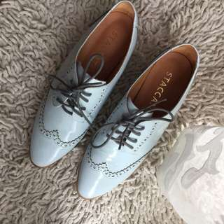 Brand new staccato oxfords pastel blue size 8