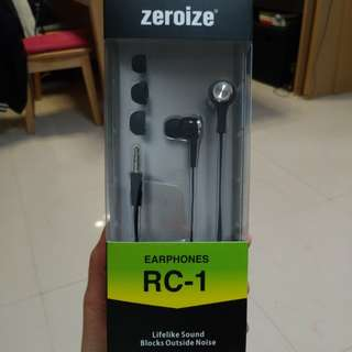 Zeroize earphones RC-1