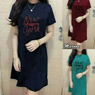 DRESS NEW YORK NAVY TOSCA MAROON TERMURAH