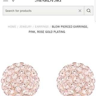 Original Swarovski Blow Pierced Earrings