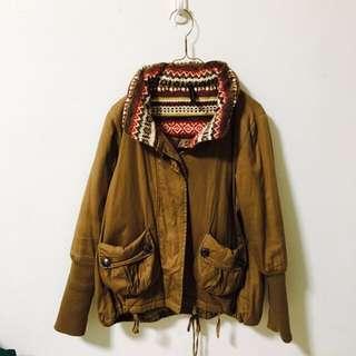 丨日本購入 棕色鋪棉外套丨