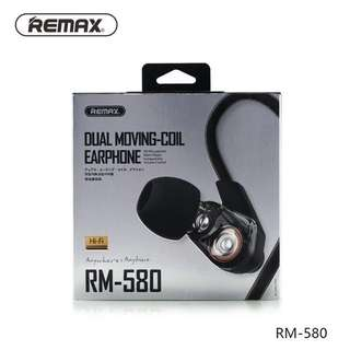 Remax Dual Moving Coil Earphone (RM-580)