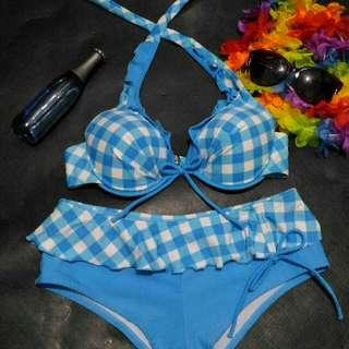 Two Piece Swimsuit (Lt.Blue)