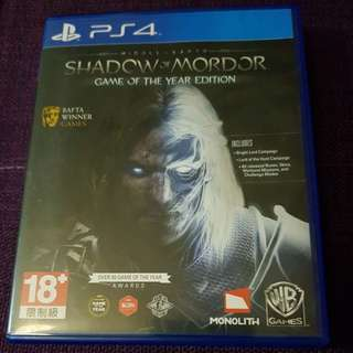 PS4 Game Shadow of Mordor