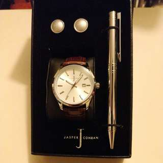 Jasper Conran Watch,Pen and CuffLinks Set