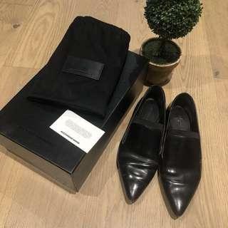 Alexander Wang JAMIE FLAT OXFORD SHOES (Black, Size 36)