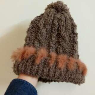 🚚 韓國絨毛邊毛帽