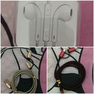 iPhone earphones and dual cord for andriod and iphone