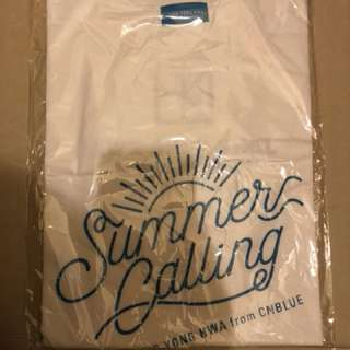 CNBLUE JUNG YONG HWA 2017 CONCERT IN JAPAN SUMMER CALLING White Tee