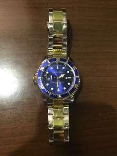 Rolex (blue tone /half gold) replica